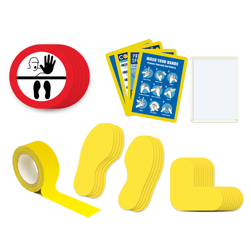 Floor Marking Kit 3B - Stop Keep Your Distance, graphic