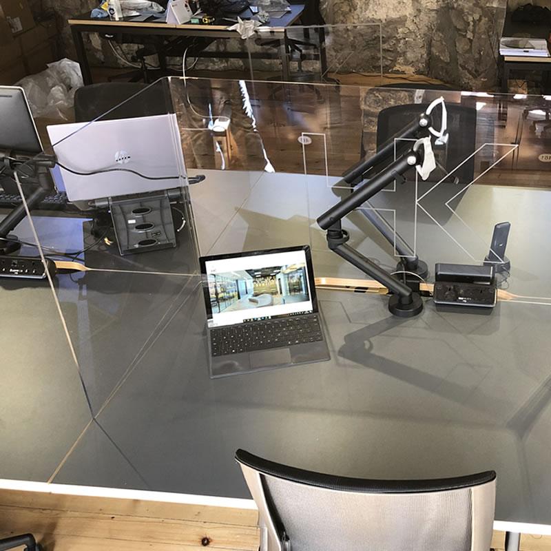 Freestanding Desk Wraparound Screens