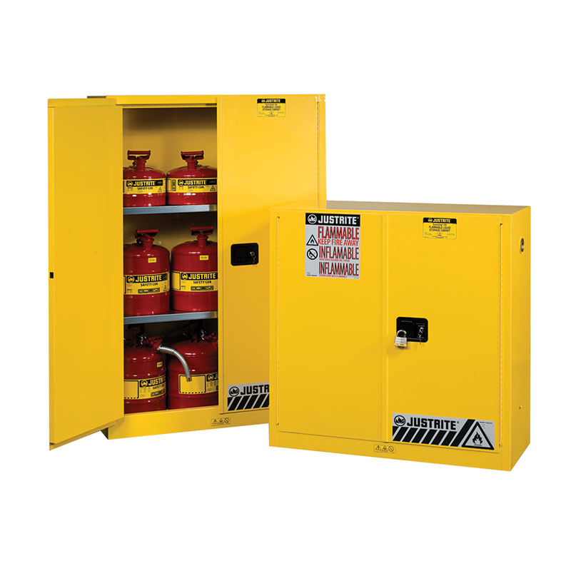 Flammable Storage Standard Cabinets with 2 Shelves