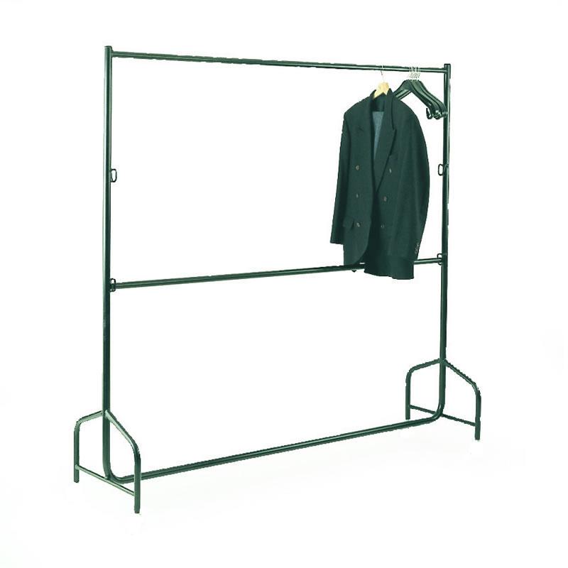Static Double Bar Garment Rails