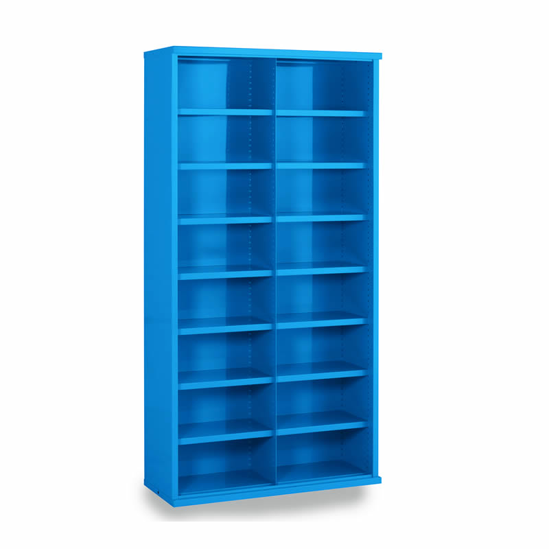 Steel Bin Cabinets - 16 Bins - Bin Size: 220mm x 445mm