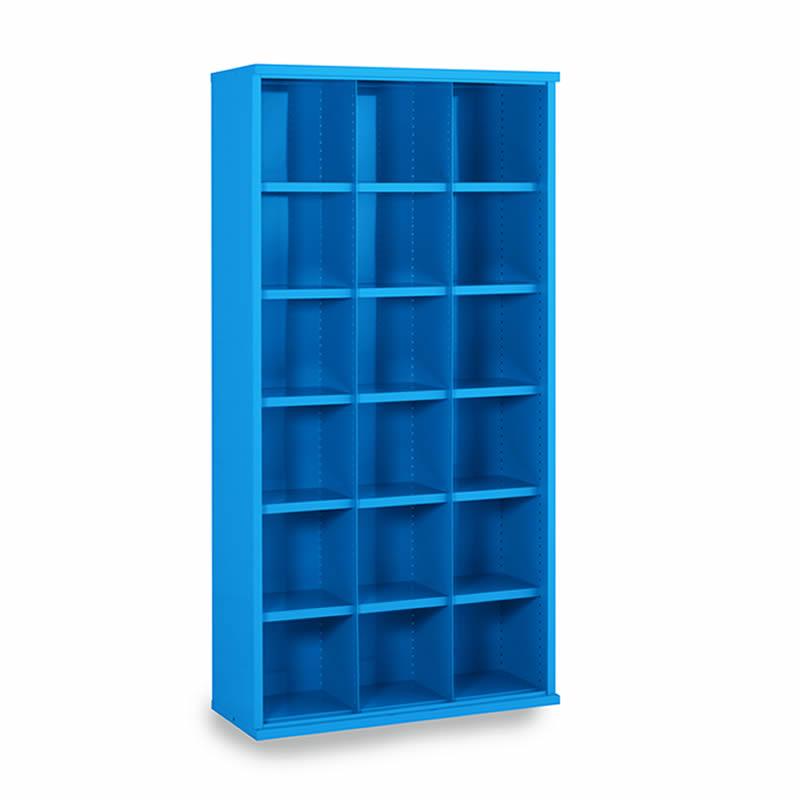 Steel Bin Cabinets - 18 Bins - Bin Size: 293mm x 296mm