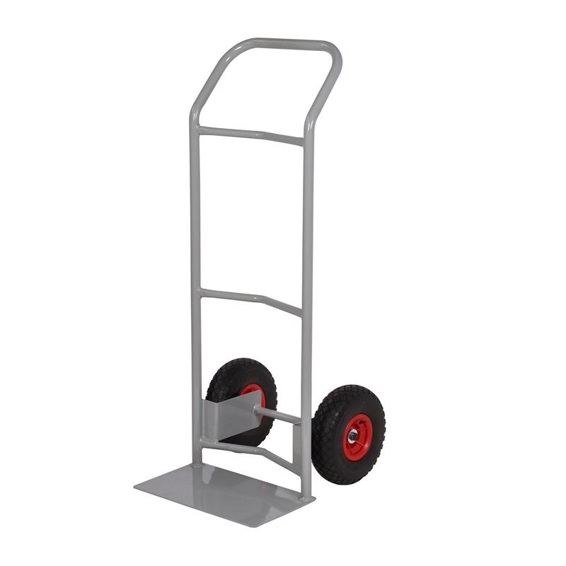Steel Sack Truck - Reach  Wheels - Concave Back & Loop Handle