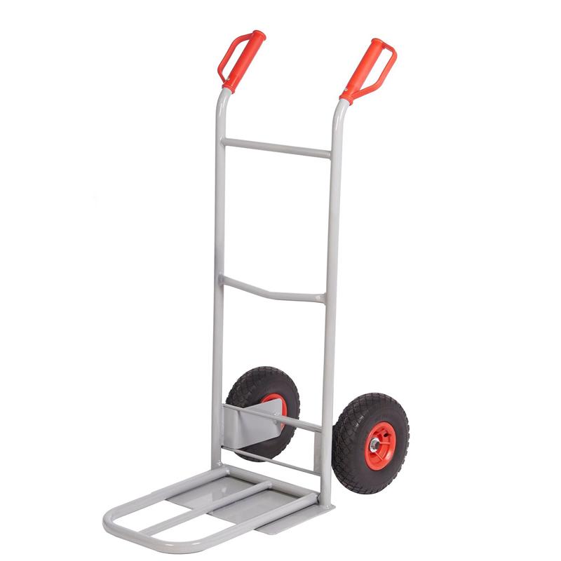 Steel Sack Truck - Reach  Wheels - Fixed/Folding Toe