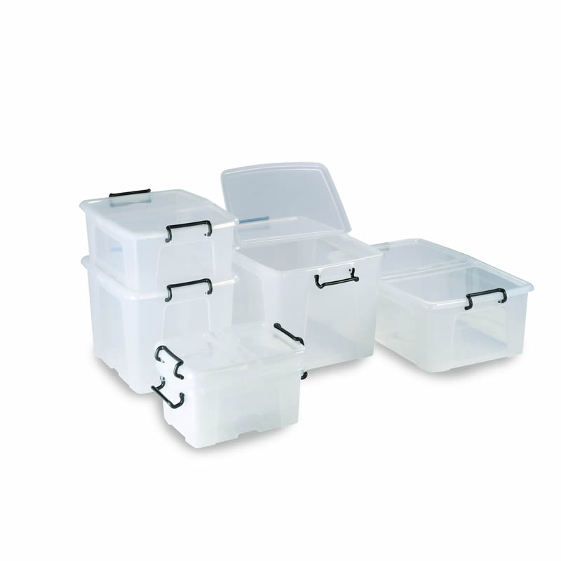 Plastic Container Boxes with Hinged Lids