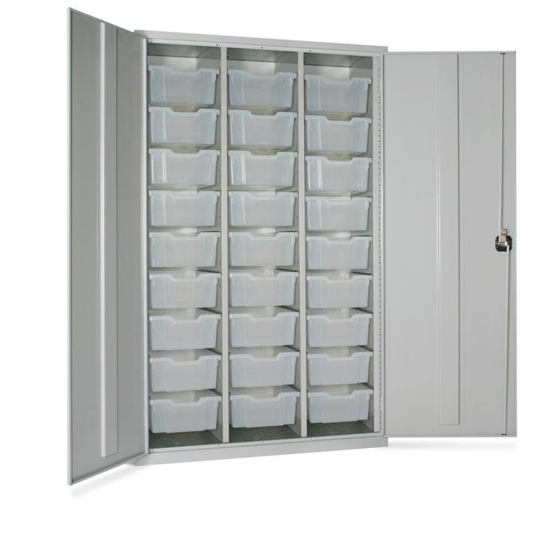 Storage Tray Cupboard - 18 x Trays