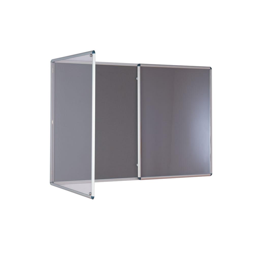 Tamperproof Felt Noticeboards - Double Door