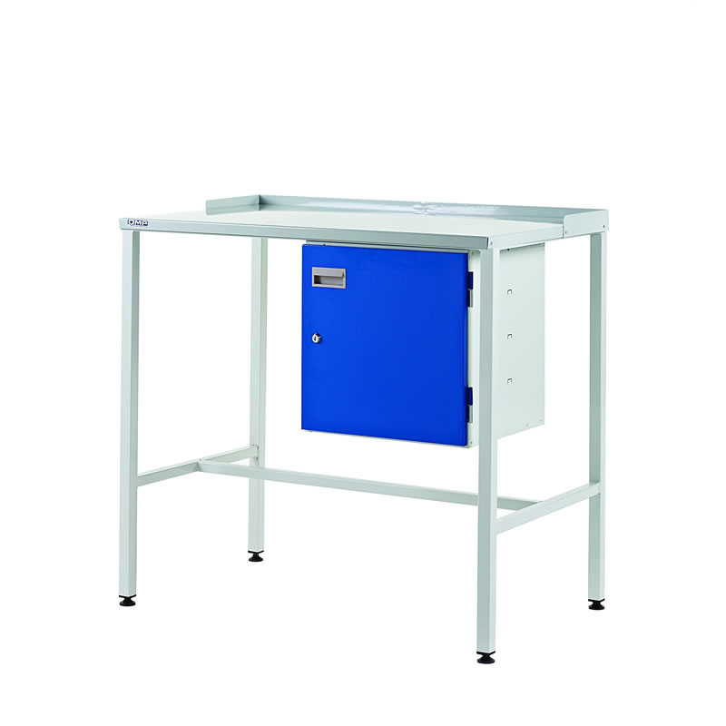 Team Leader Workstations with Cupboard - Flat Top