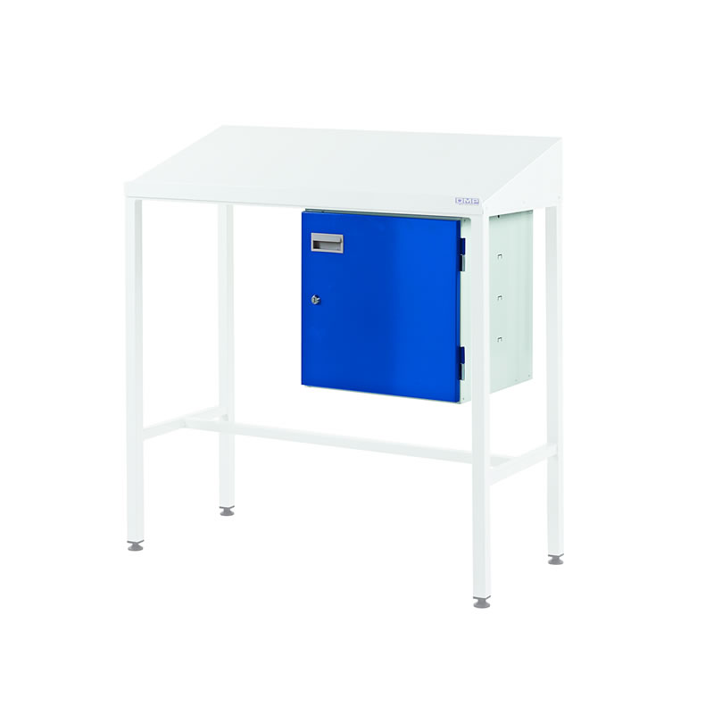 Team Leader Workstations with Cupboard - Sloping Top