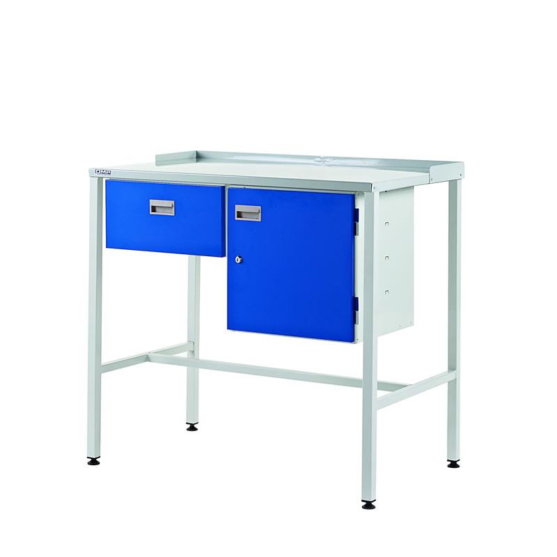 Team Leader Workstations - Sgle Drawer & Cupboard - Flat Top