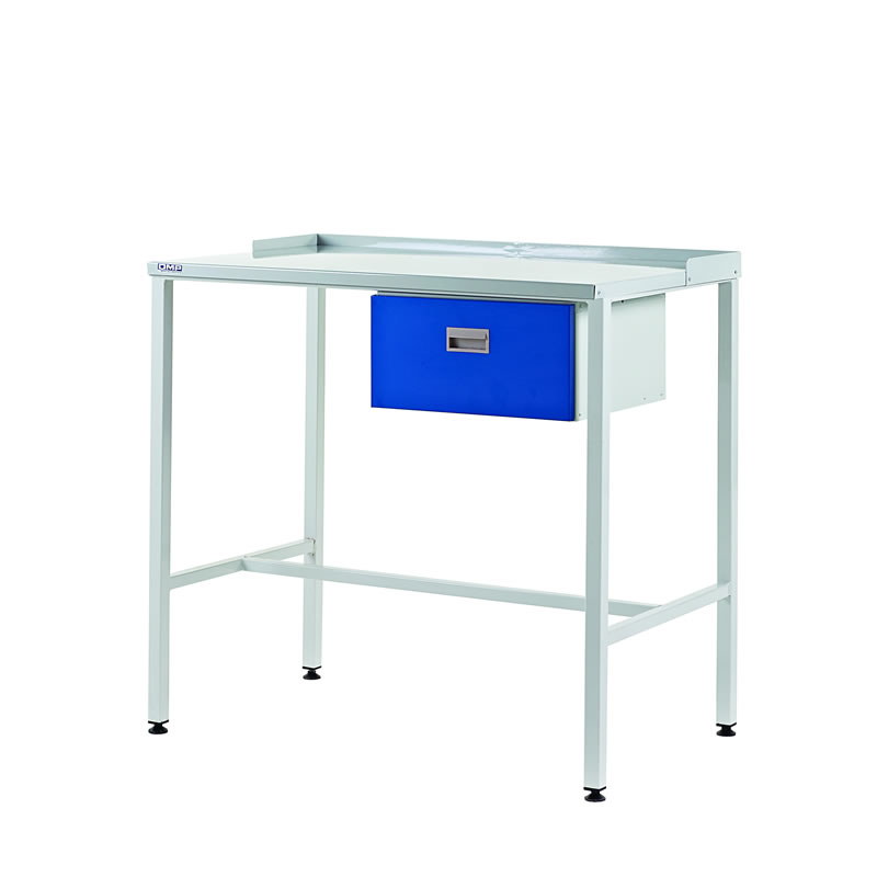 Team Leader Workstations with Single Drawer - Flat Top