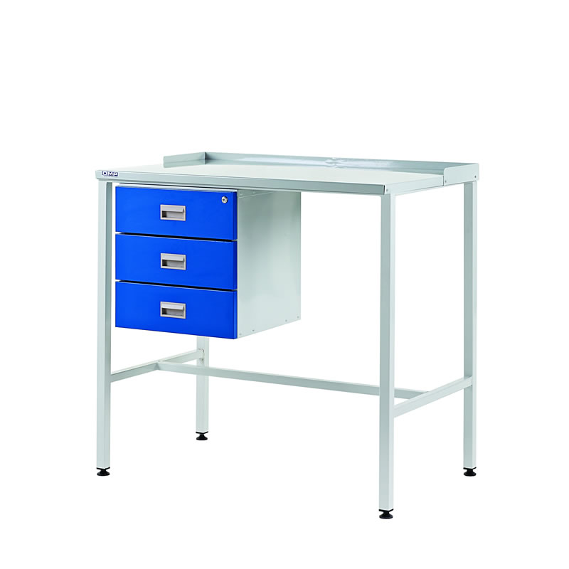 Team Leader Workstations with Triple Drawer - Flat Top