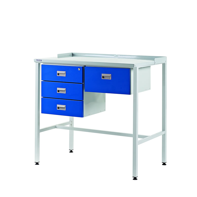 Team Leader Workstations with Single & Triple Drawer - Flat Top