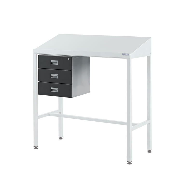 Team Leader Workstations with Triple Drawer - Sloping Top