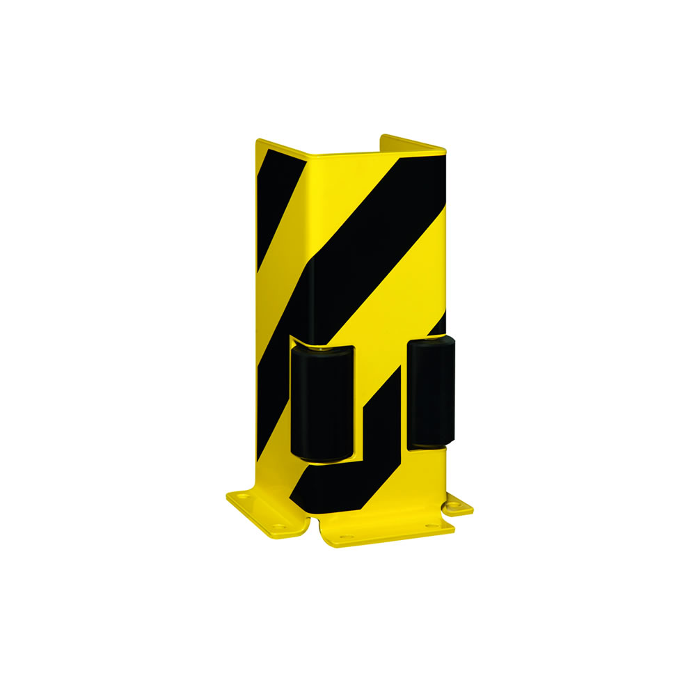 Pallet Racking Protector - U-Profile with Rollers