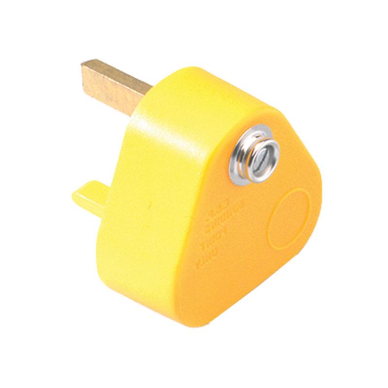 UK Earth Bonding Plug - Yellow