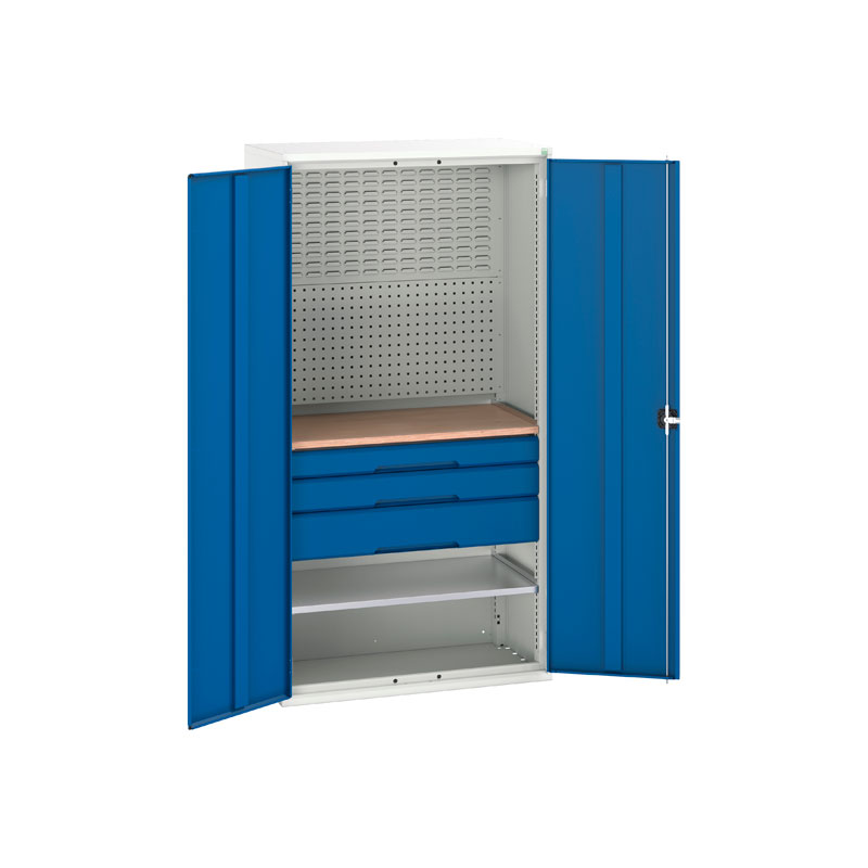 Verso Mini Workshop Cupboard with 3 Drawers