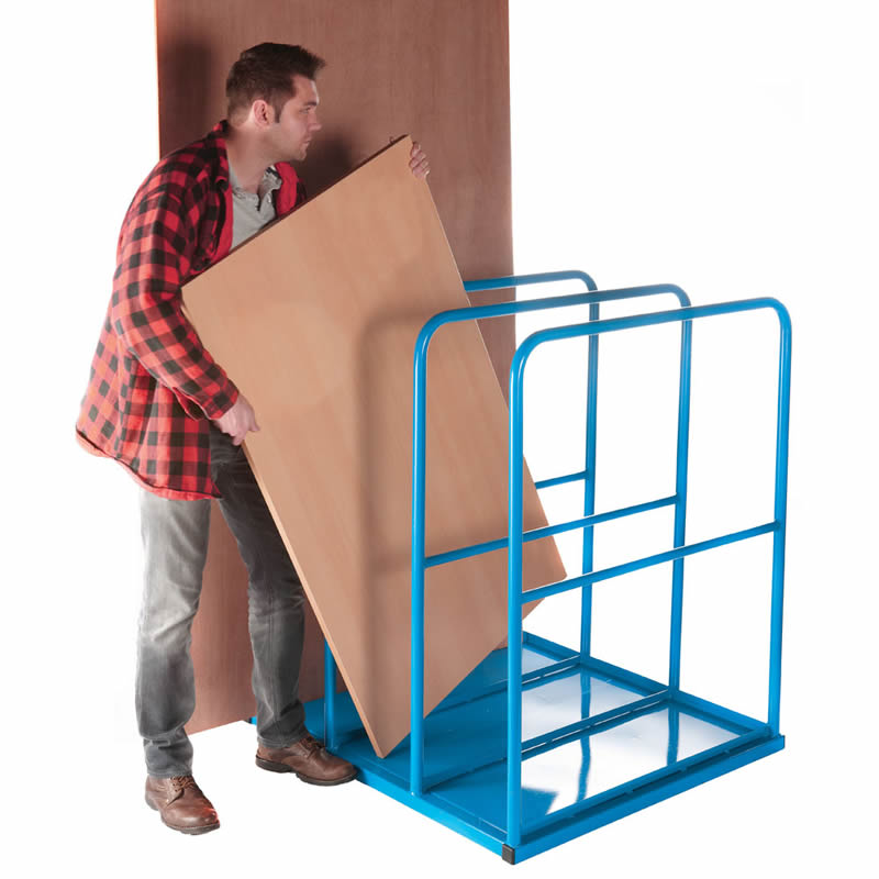 Vertical Sheet Rack with Flat Steel Base - 3 Section