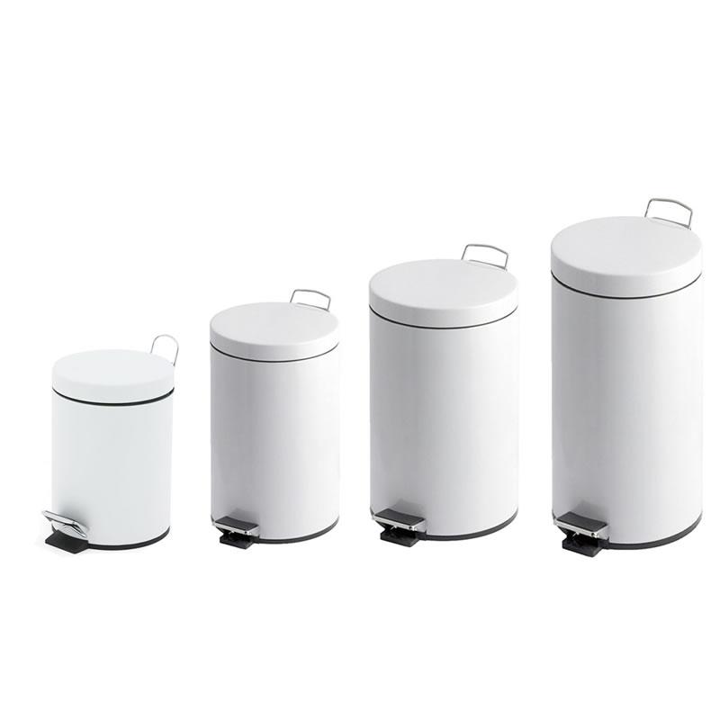 White Pedal Bins