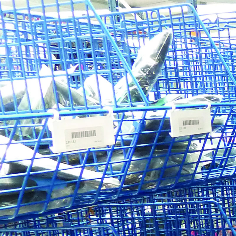 Hook On Price Tags for Wire Display Baskets