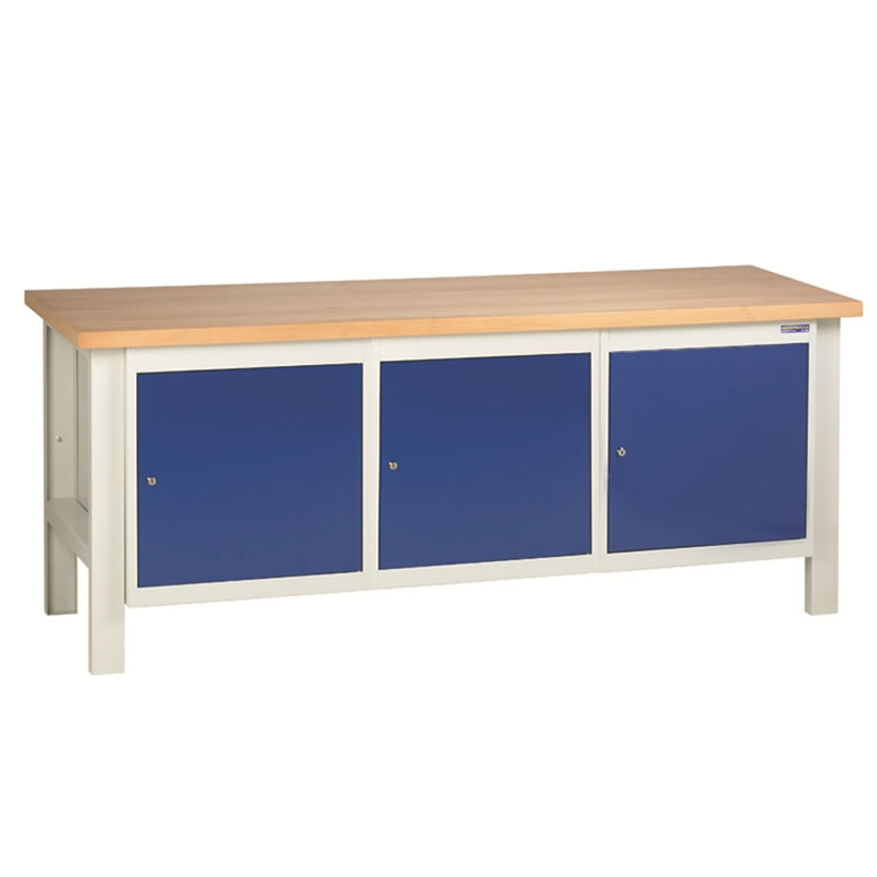 Workbench with 3 x Cupboards