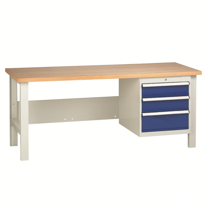 Workbenches with 1 x 3 Drawer Set