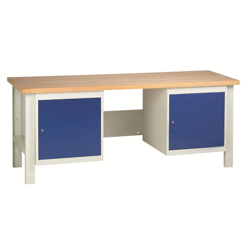 Workbenches with 2 x Cupboards