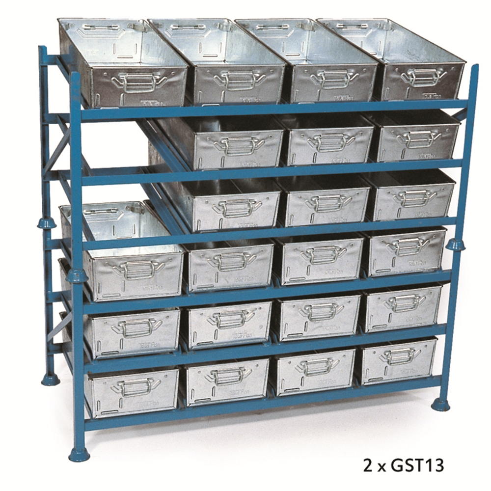 Horizontal Stacking Racks - hold 12 x Galvanised Tote Pans