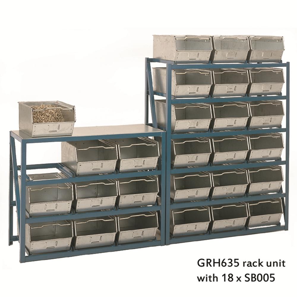 Steel Bin Counter Units - hold 12 x Steel Bins