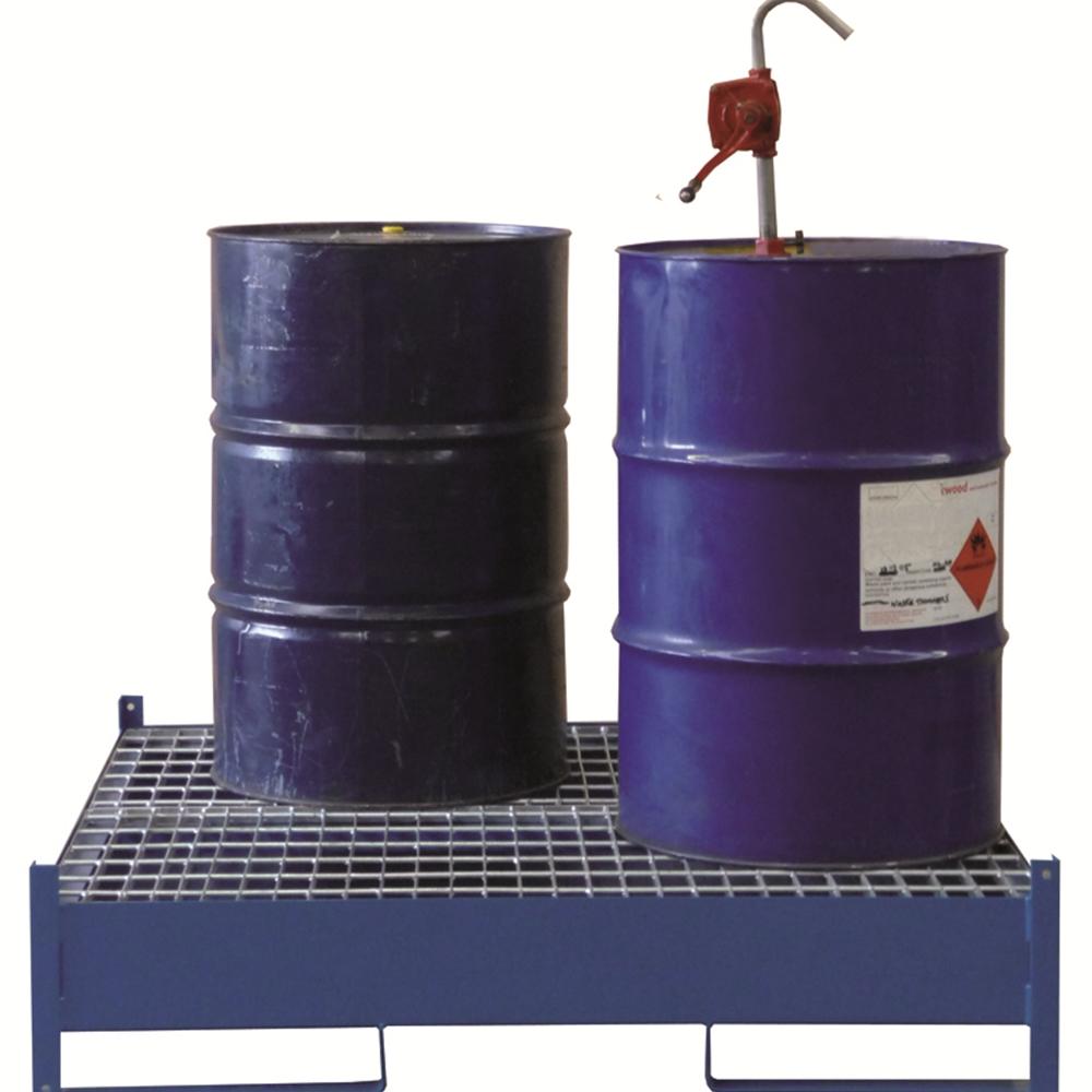Drum Storage Pallet - 2 Drum - Painted