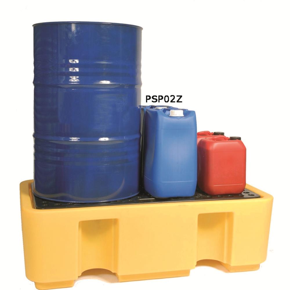 Sump Pallet - 2 Drum - Yellow