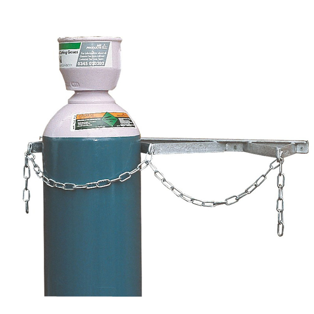 Gas Cylinder Storage Rack - Painted - 2 Cylinders up to 180mm