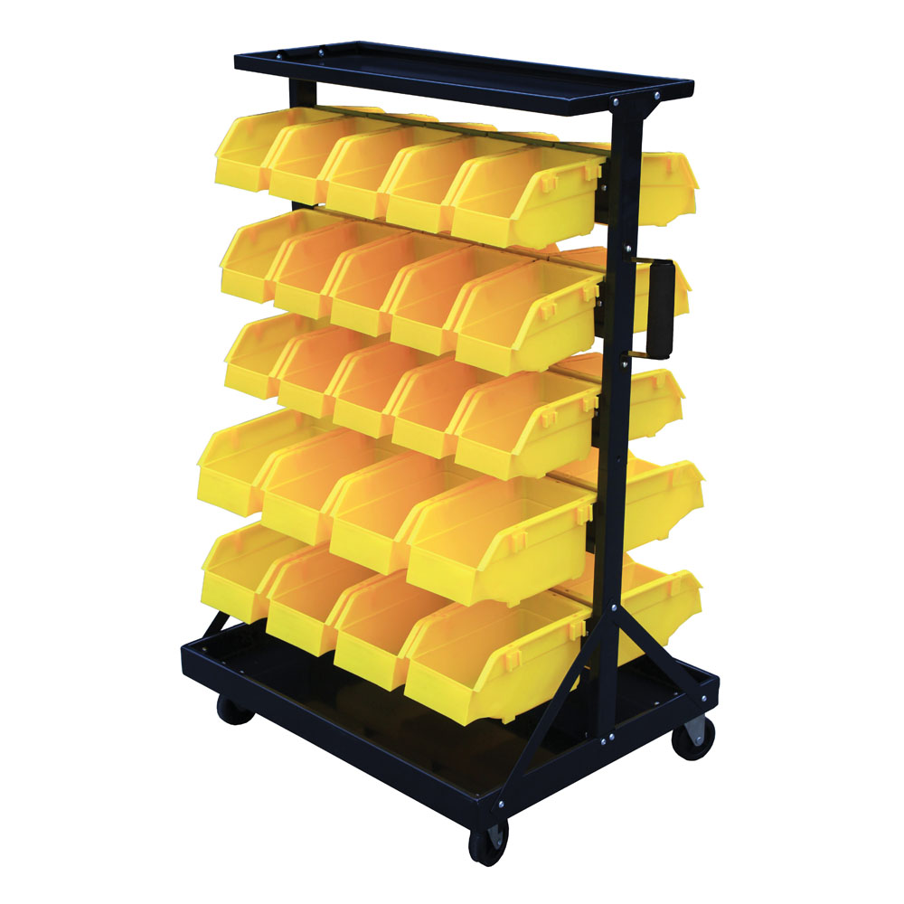 Bin Trolley - complete with 46 Bins