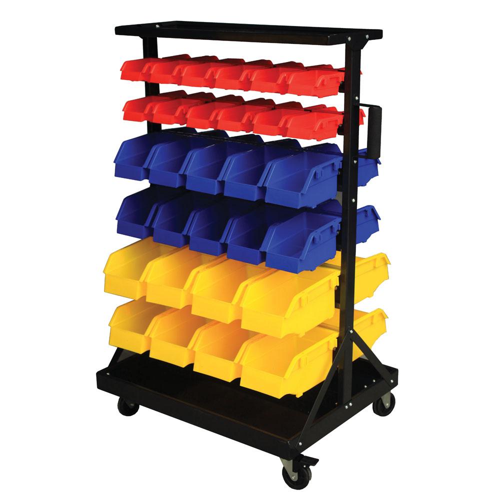 Bin Trolley - complete with 60 Bins