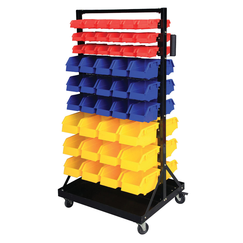 Bin Trolley - complete with 90 Bins