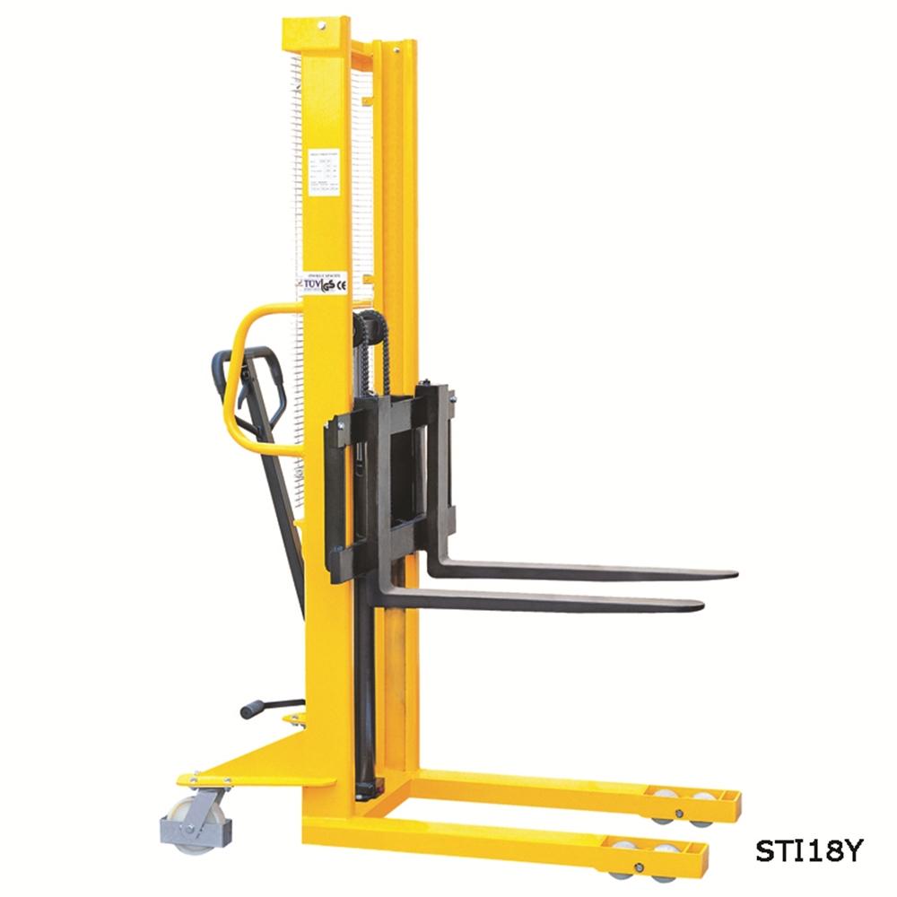 Hydraulic Stacker - Adjustable Forks 1000kg