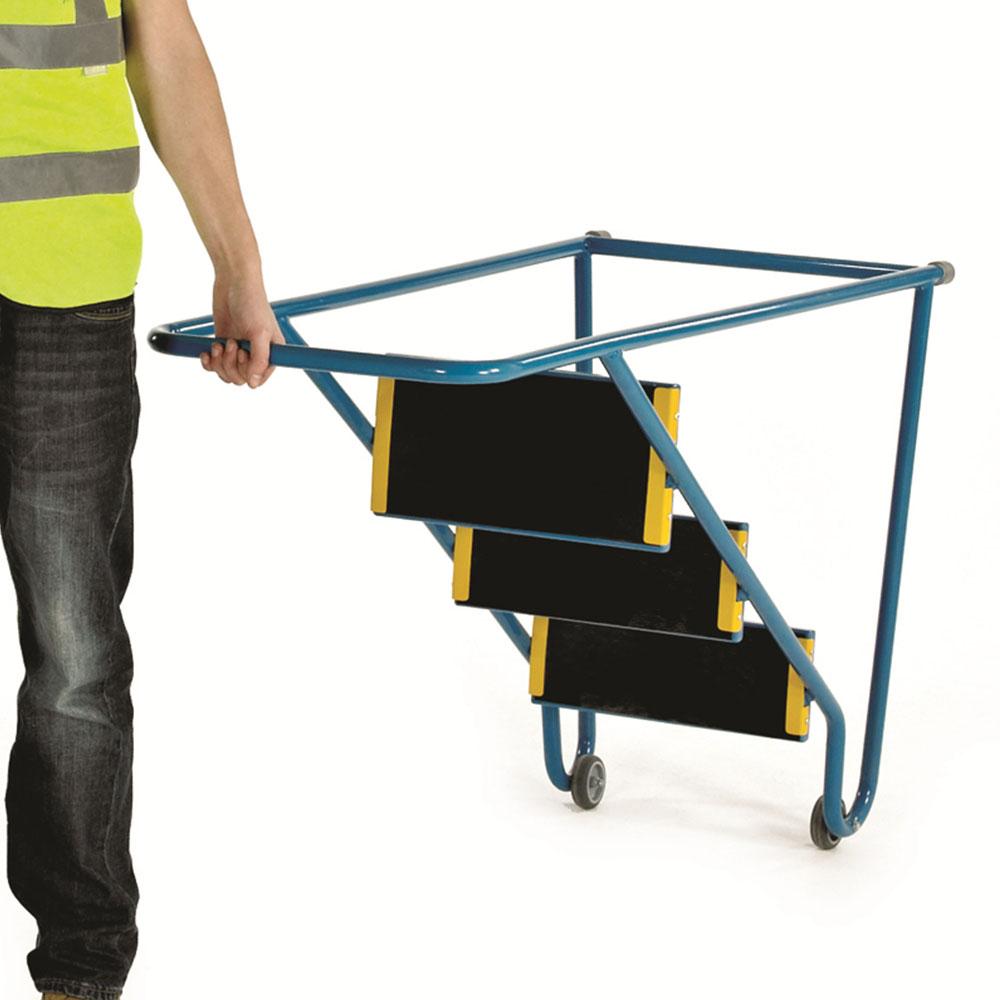Tilt and Pull Steps - Blue
