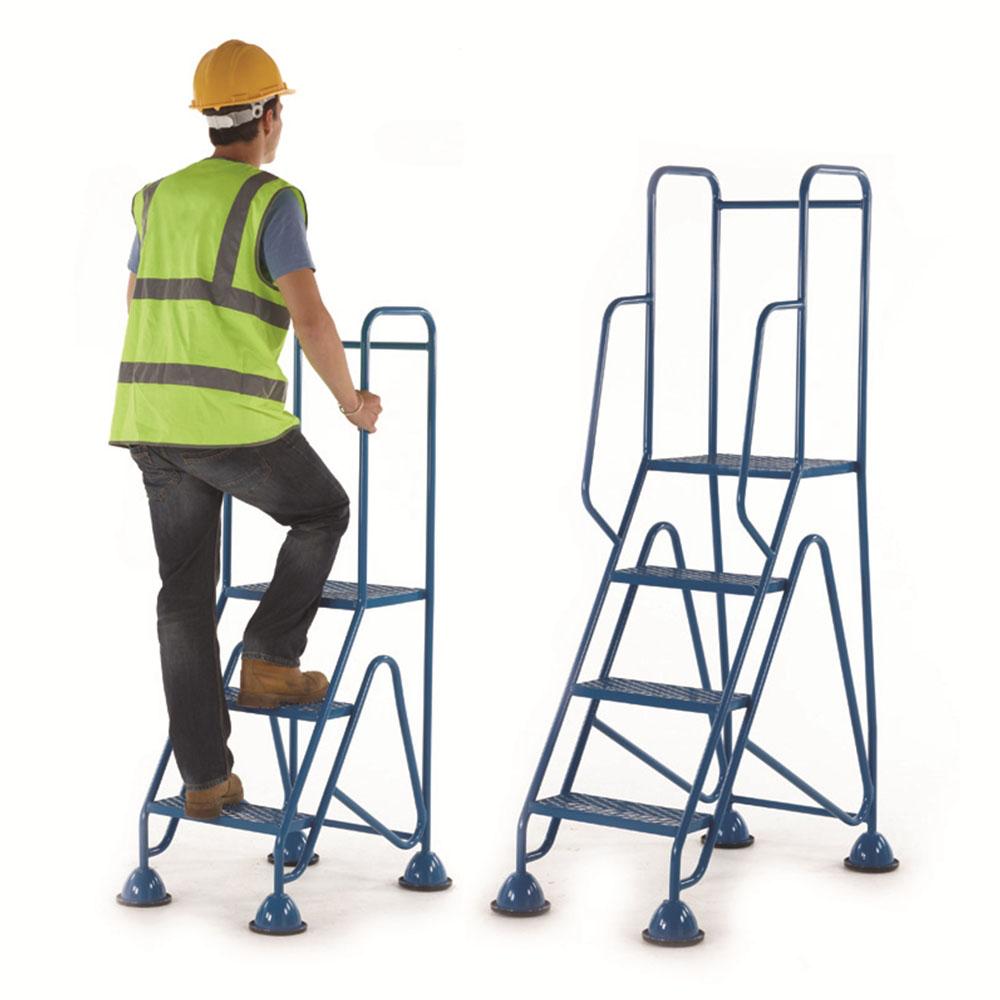 Fort Mobile Steps - Mesh Treads - Full Handrail