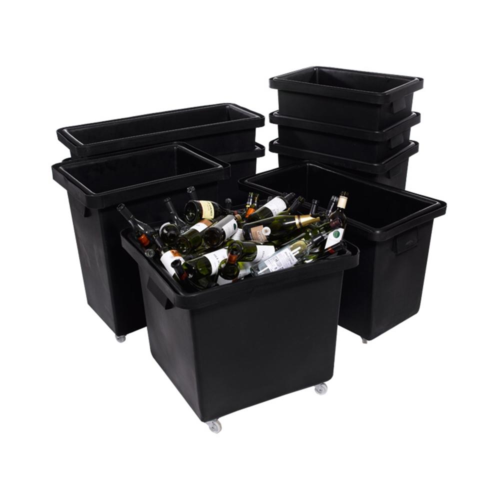 Black Recycled Bottle Skips