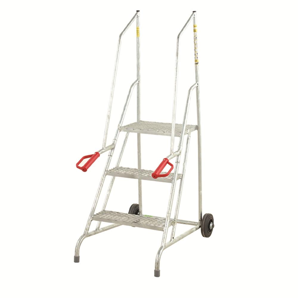 Dock Steps - Galvanised - Mesh Treads