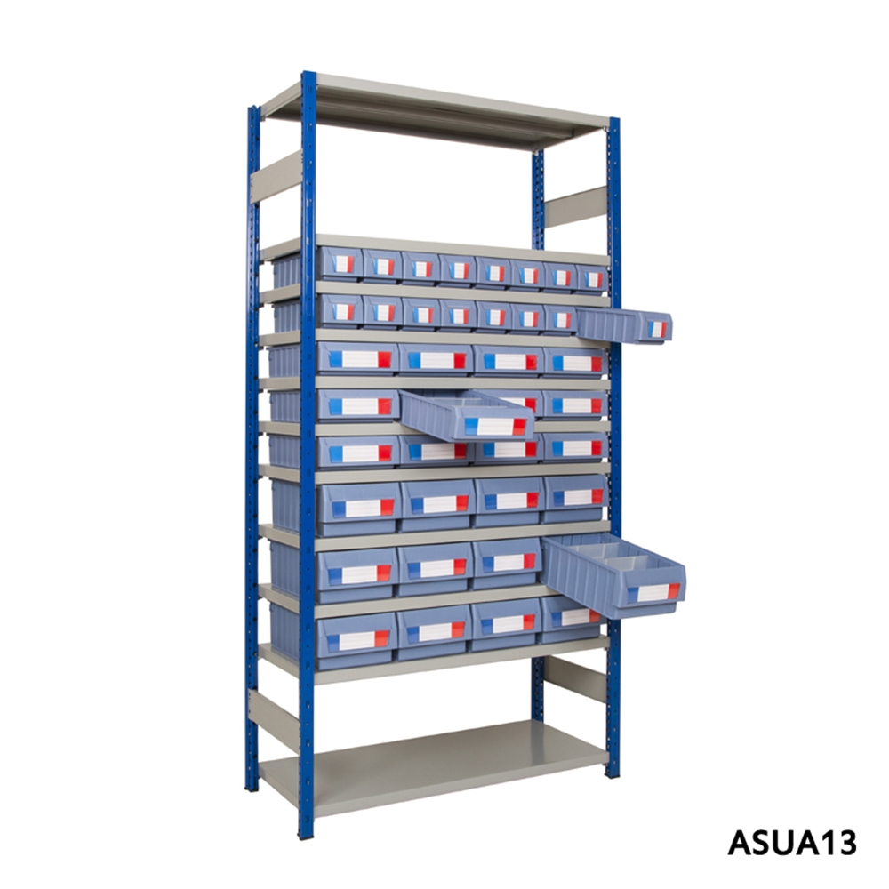 Shelving with Shelf Trays - Part Height Units - 300mm Deep