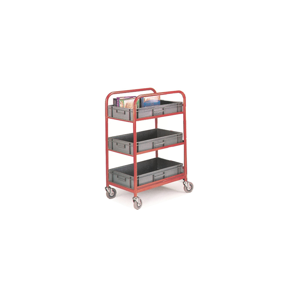 Container Storage Trolley c/w 4 Containers