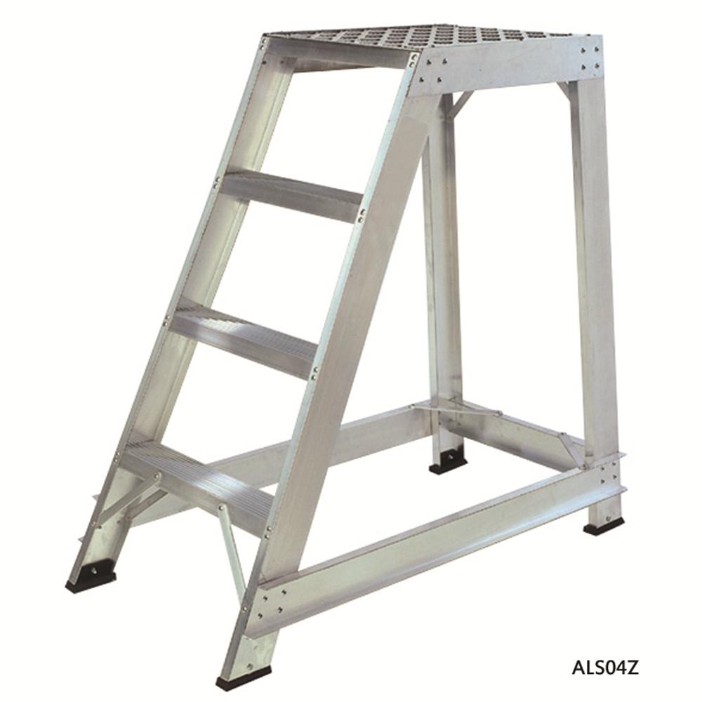 Aluminium Trade Stepladders - Straight Back
