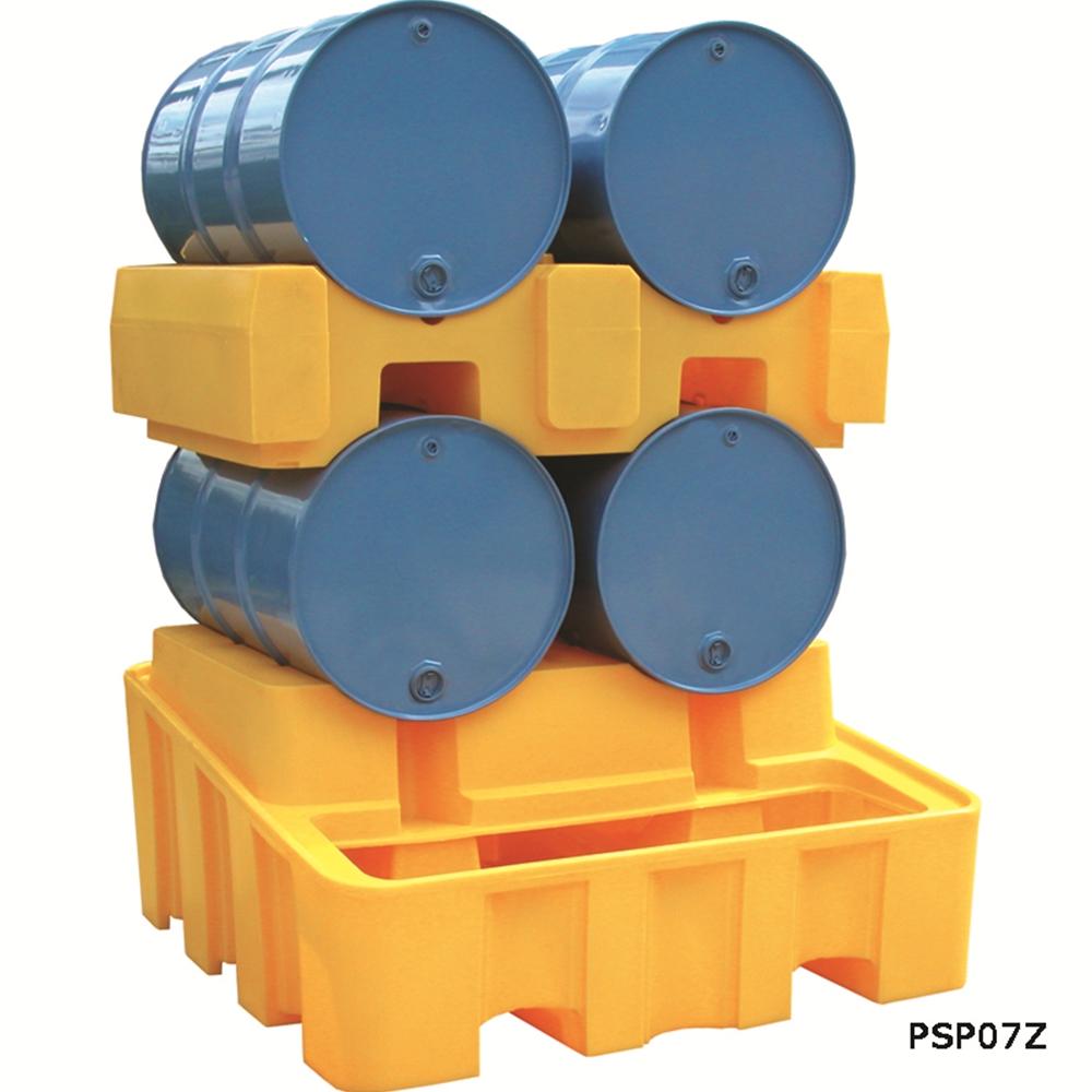 Bunded Drum Rack - Base + Stacker Unit - Yellow