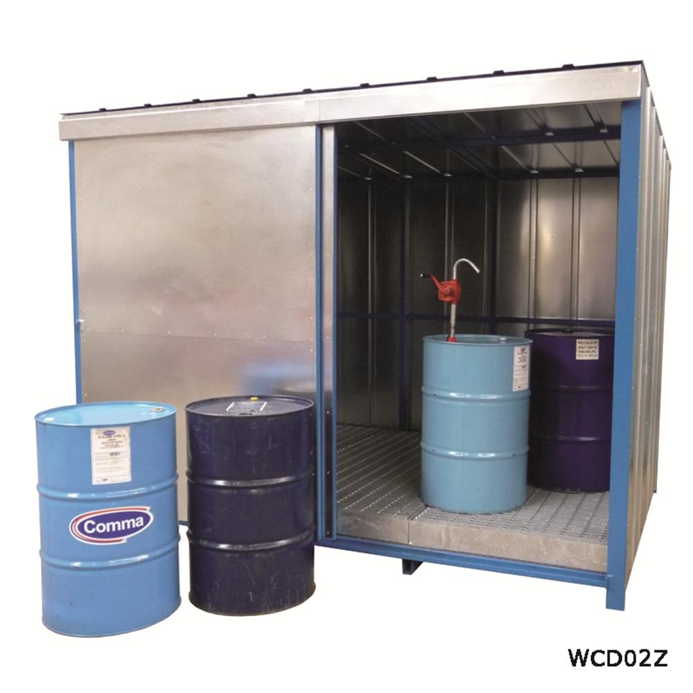 Drum Storage Unit with Sump Base