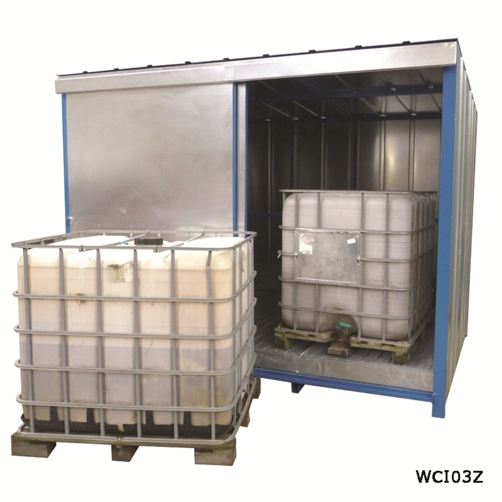 IBC Storage Unit with Deep Sump Base