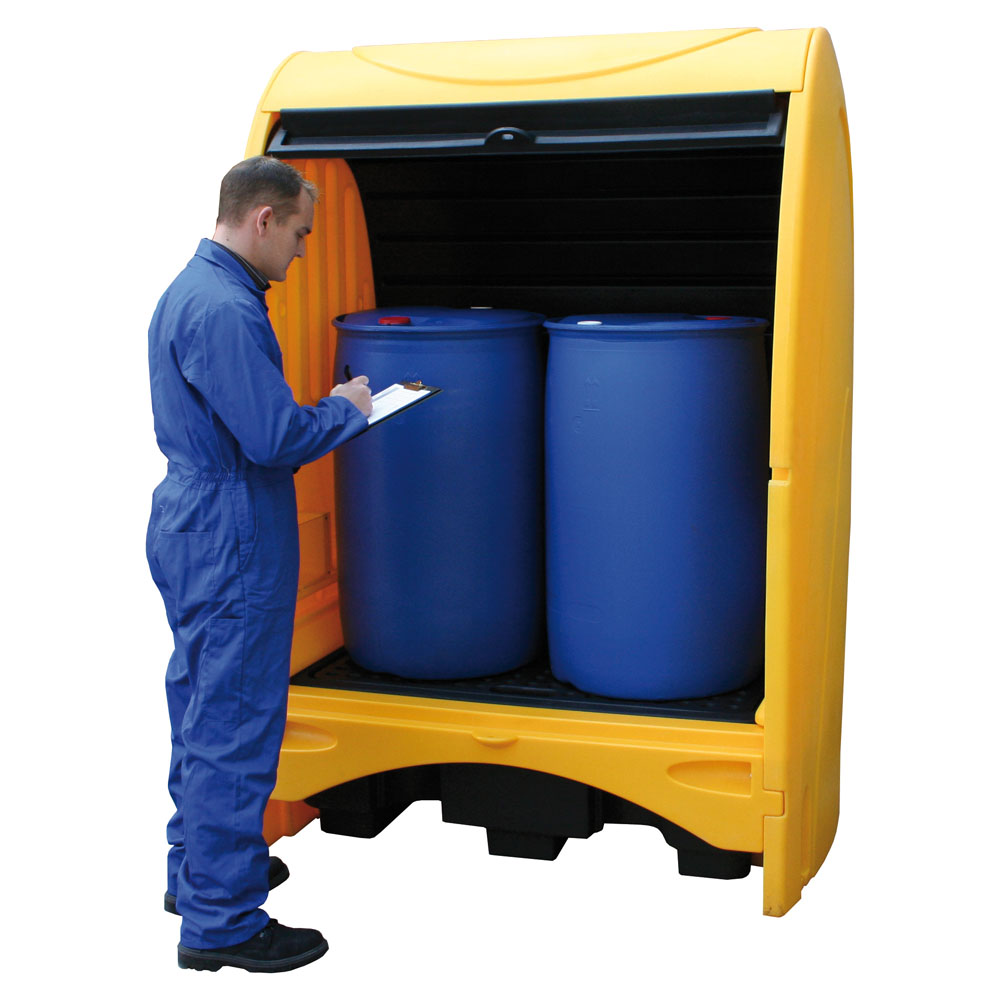 Covered Drum Storage - 2 Drum