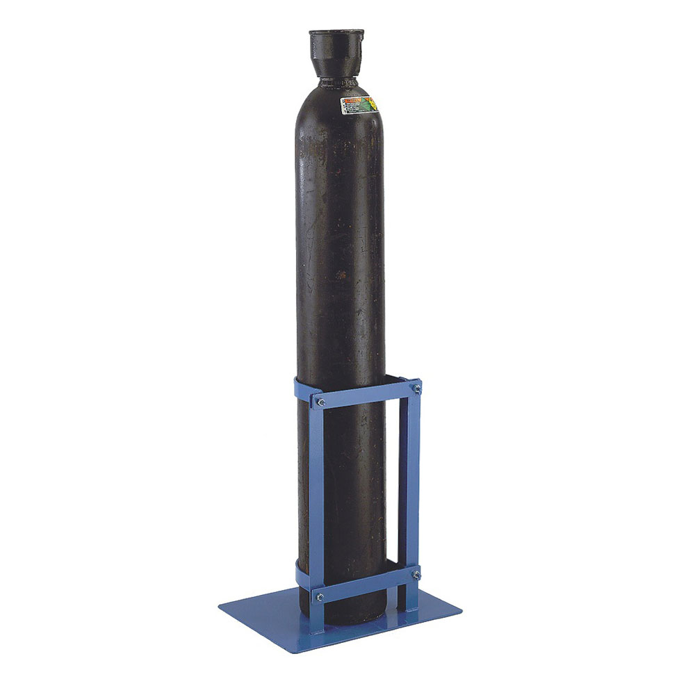 Gas Cylinder Floor Stand - Hinged Latch - 1 Cylinder up to 178mm
