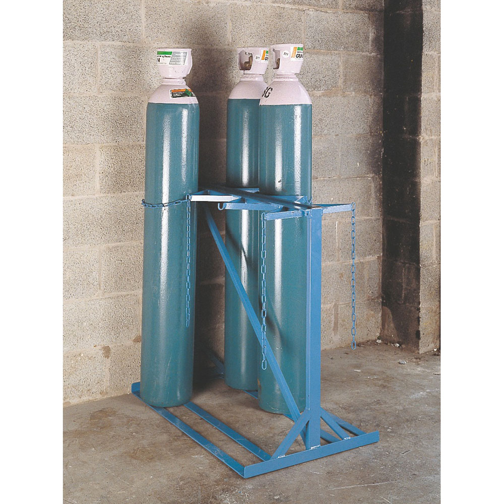 Double Sided Gas Cylinder Floor Stand - 4 Cylinders up to 270mm