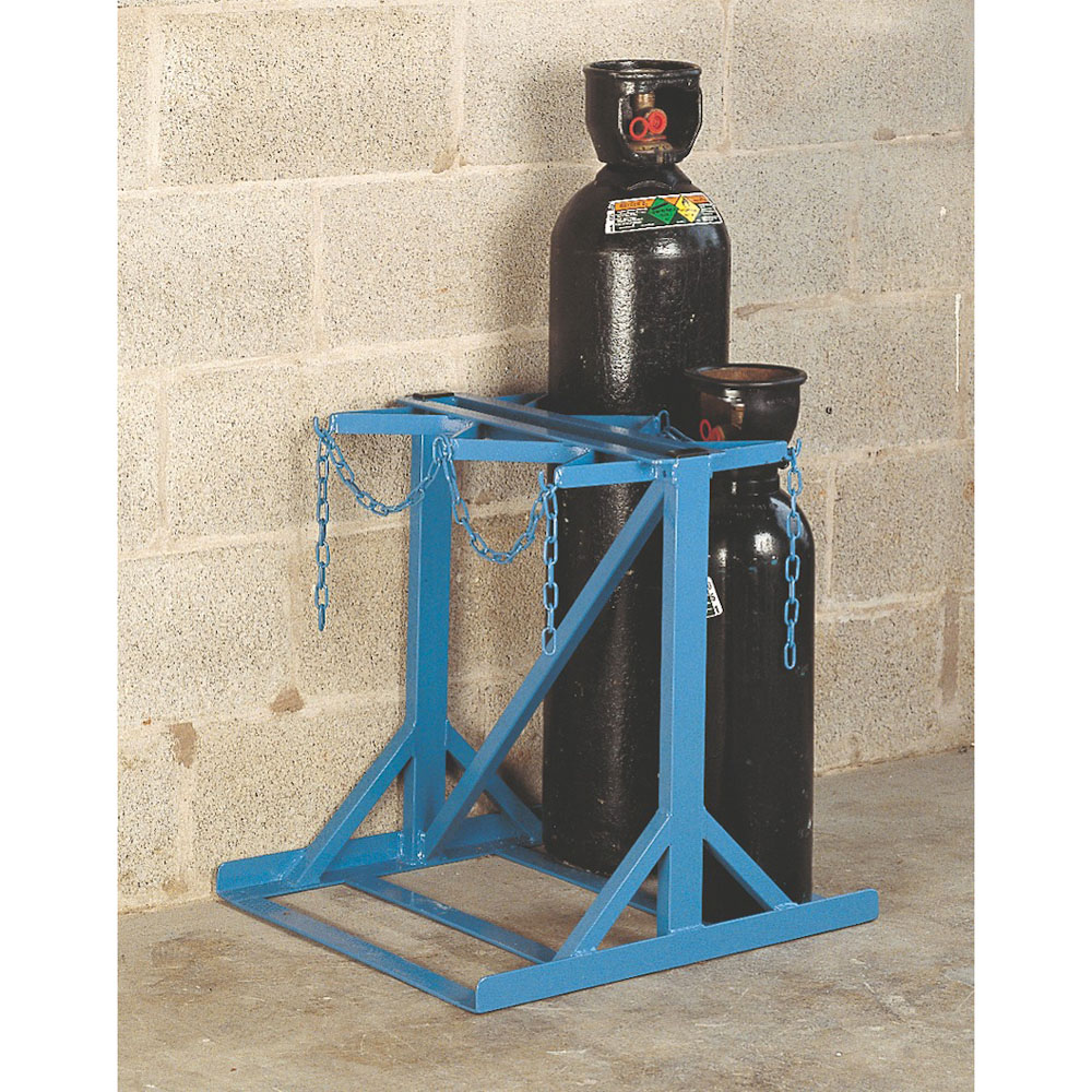 Low Height Gas Cylinder Floor Stand - 4 Cylinders up to 180mm